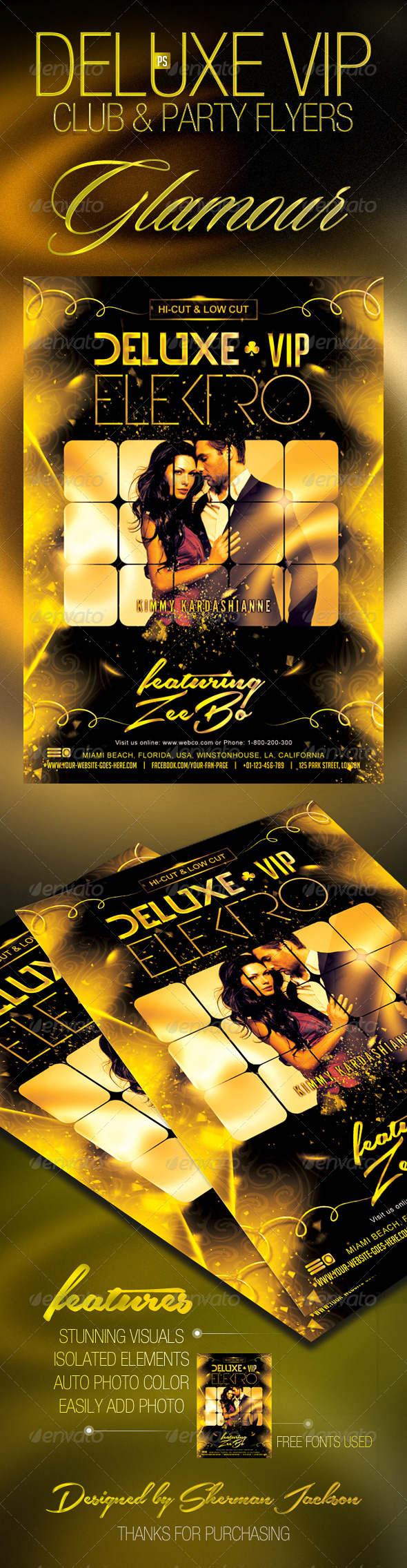 GraphicRiver Deluxe VIP Club Party Flyer 7671407