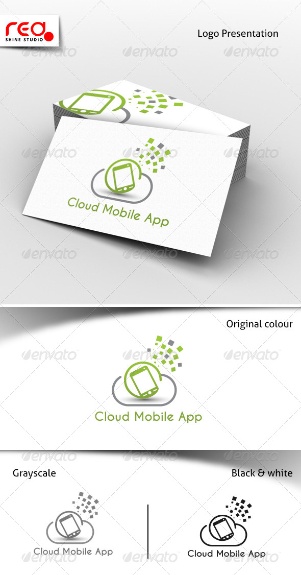 GraphicRiver Cloud Mobile App Services Logo 7671455