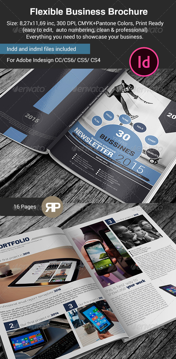 GraphicRiver Flexible Business Brochure Template 7671462