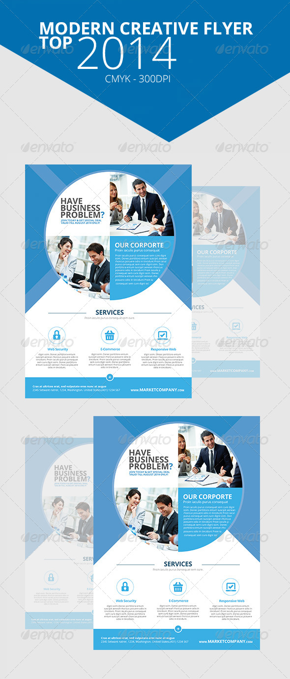 GraphicRiver Modern Creative Flyer Top 5 7671520