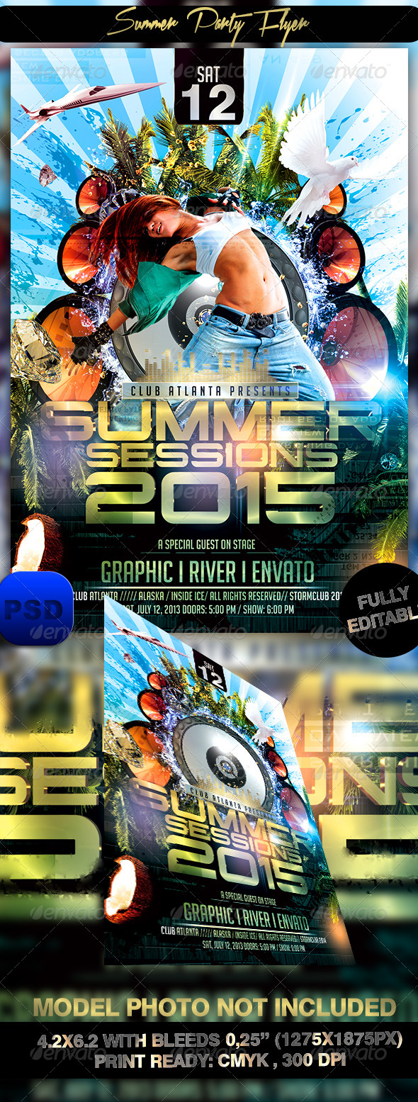 GraphicRiver Summer Party Flyer 7671528