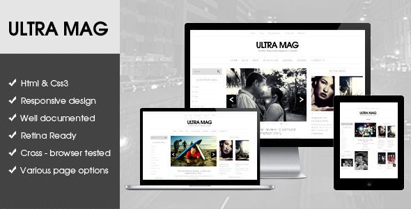 ThemeForest Ultra Mag HTML5 template 7671747