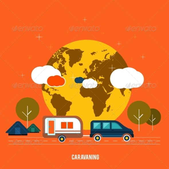 GraphicRiver Caravaning Tourism 7671962