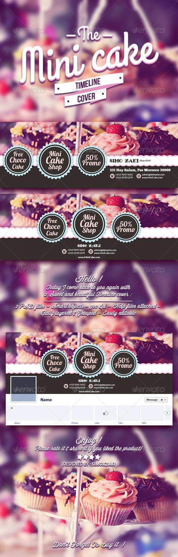 GraphicRiver The mini Cake Timeline Cover 7672141