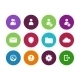 User Account Circle Icons - GraphicRiver Item for Sale