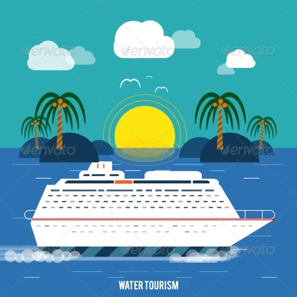 GraphicRiver Cruise Ship and Clear Blue Water 7672223