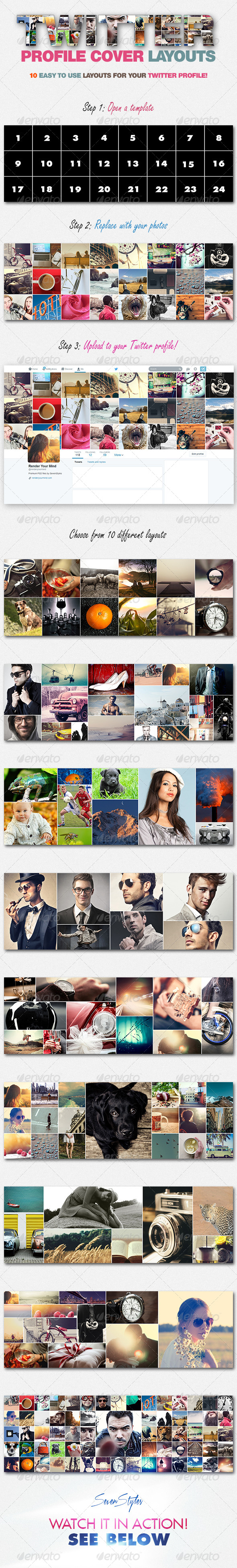 GraphicRiver 10 Twitter Profile Cover Templates 7672247