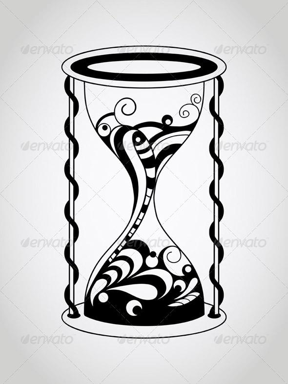 GraphicRiver Tattoo Hourglass 7672487