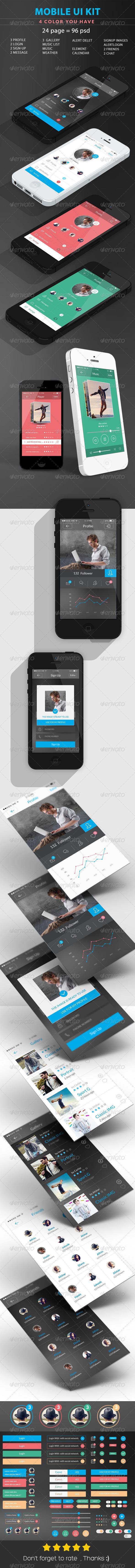 GraphicRiver UI Mobile Flat 7662769