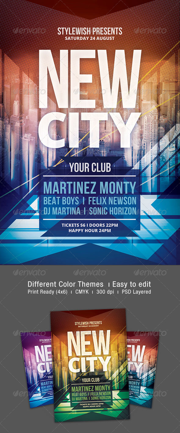New City Flyer - Clubs & Parties Events