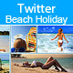 Twitter Beach Holiday Header  - GraphicRiver Item for Sale