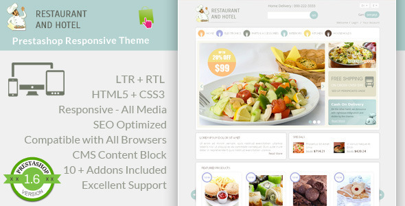 Restaurant - Prestashop Responsive Theme - Health & Beauty PrestaShop