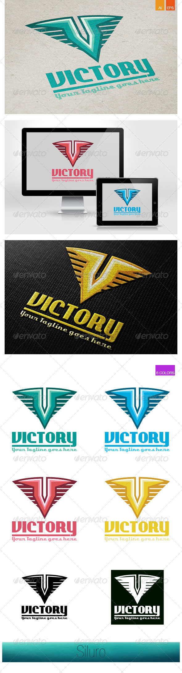 GraphicRiver Victory Logo 7673427