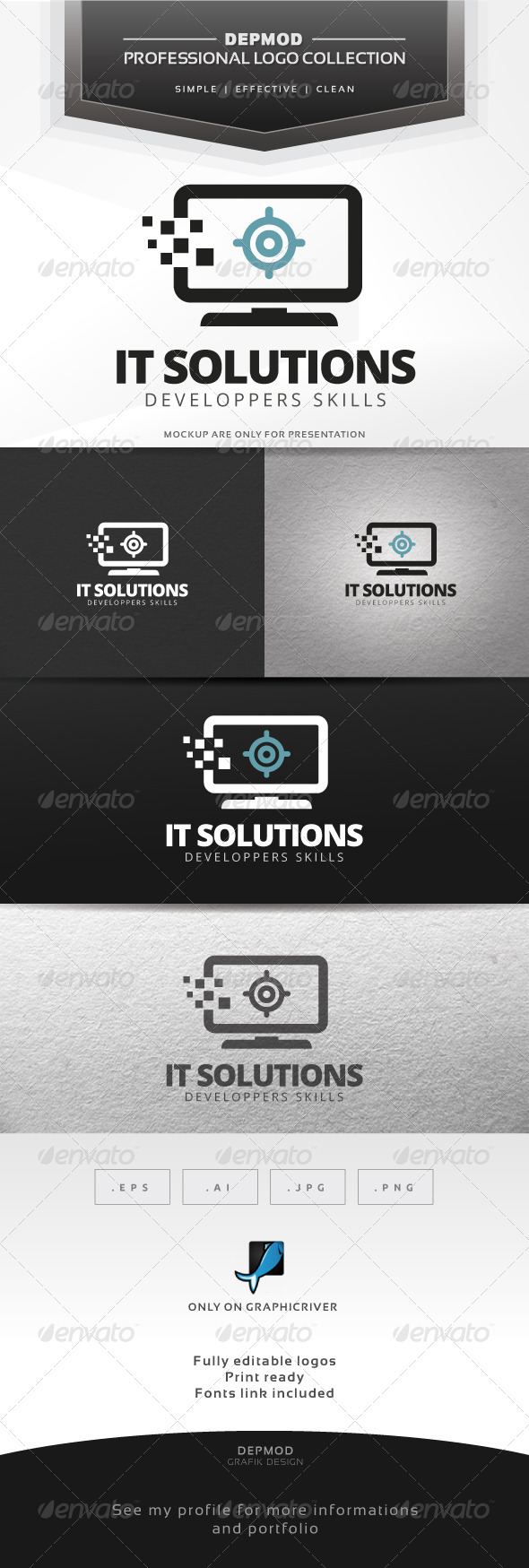 GraphicRiver IT Solutions Logo 7673471