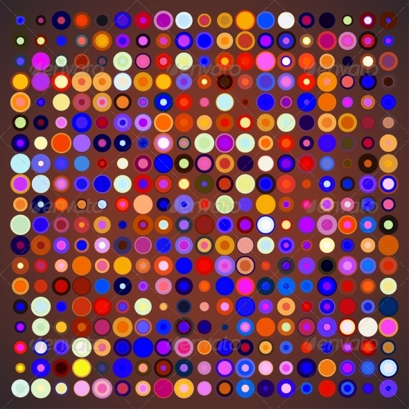 GraphicRiver Abstract Background of Colored Circles 7673575