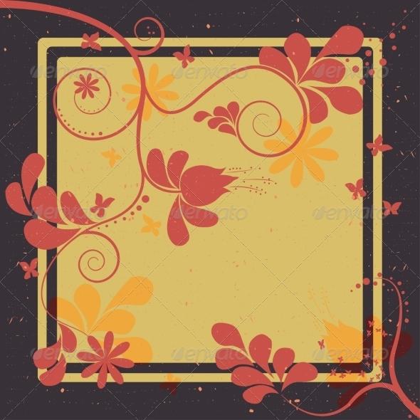 GraphicRiver Floral Retro Background 7673624