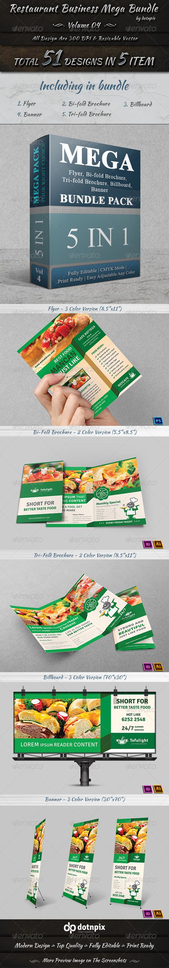 GraphicRiver Restaurant Business Mega Bundle Volume 4 7673993