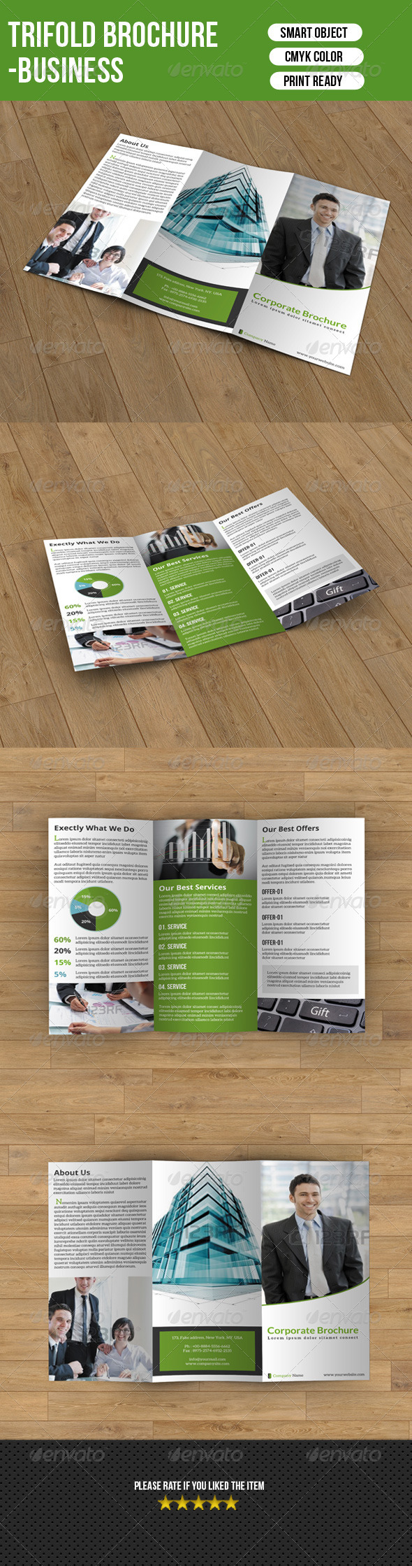 GraphicRiver Trifold Brochure-Business 7628985