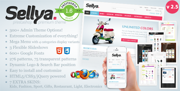 Sellya - Responsive Prestashop Theme - Fashion PrestaShop