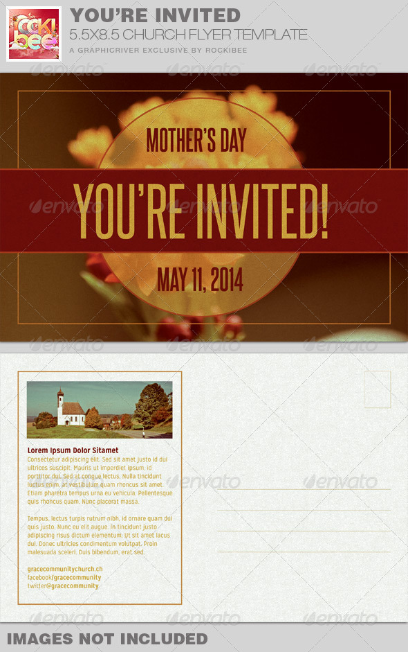 GraphicRiver You re Invited Church Flyer Invite Template 7674729