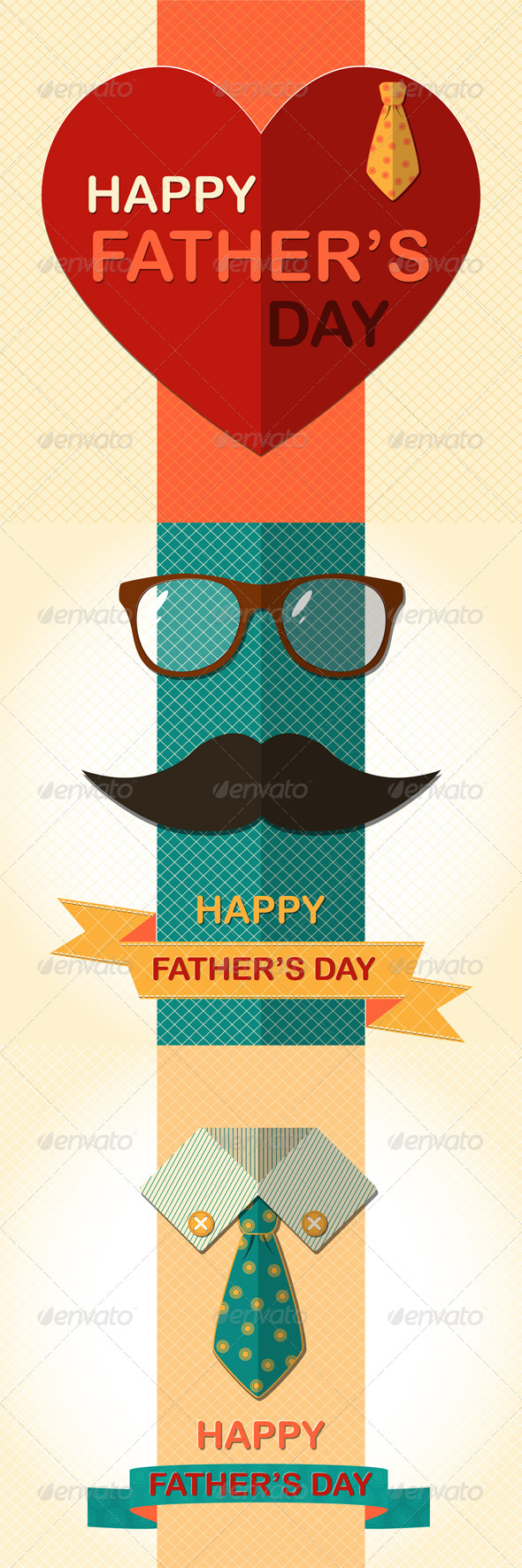 GraphicRiver Father's Day Greetings Cards 7674754