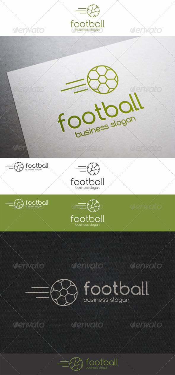 Soccer Fast Ball Logo