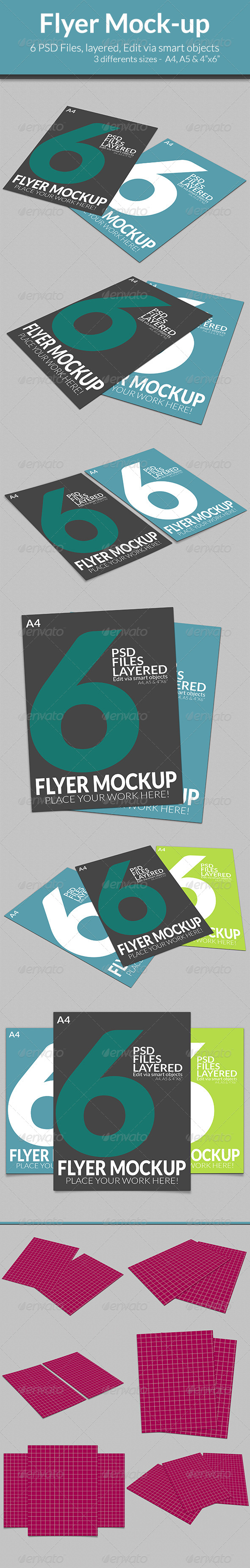 GraphicRiver Flyer Mock-up SS3 7674760