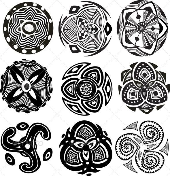 GraphicRiver Round Ornament Pattern 7675007
