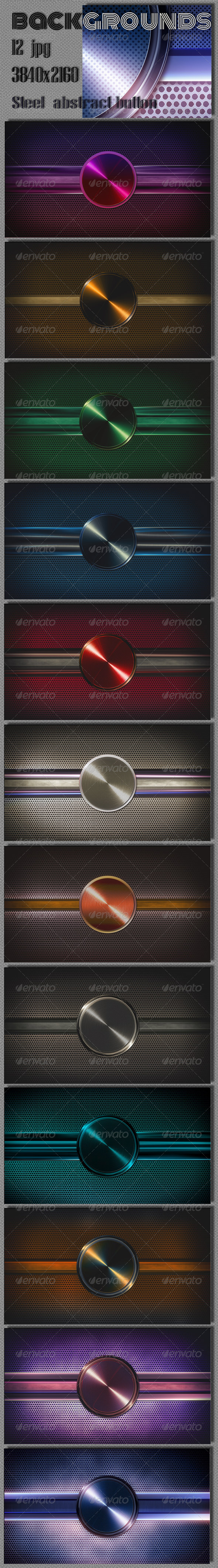 GraphicRiver Button Techno Steel Background 7675012