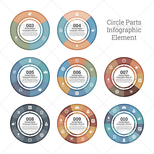 GraphicRiver Circle Parts Infographic Element 7675141