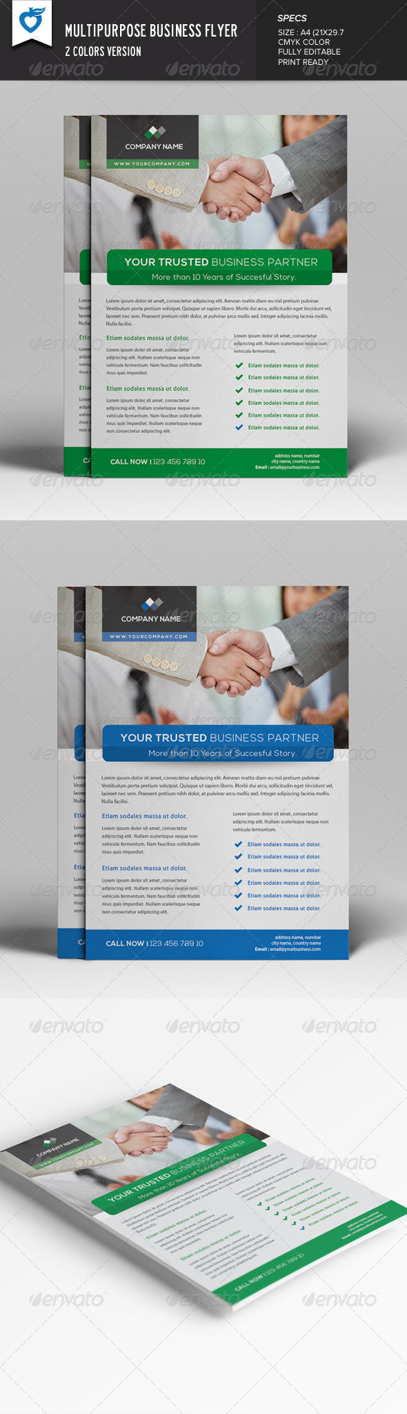 GraphicRiver Multipurpose Business Flyer 7675308