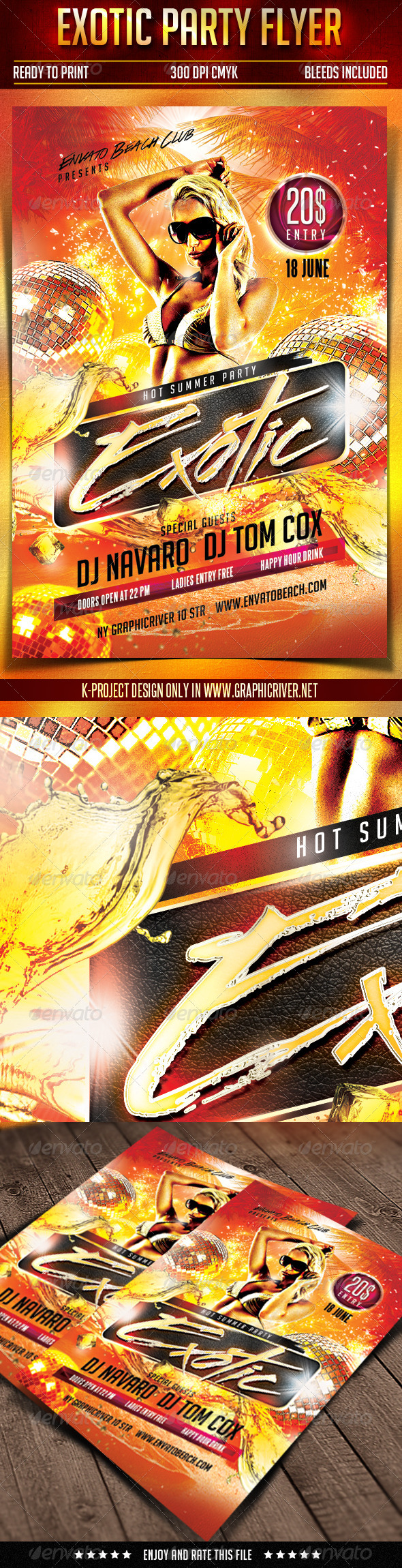 GraphicRiver Exotic Party Flyer 7675376