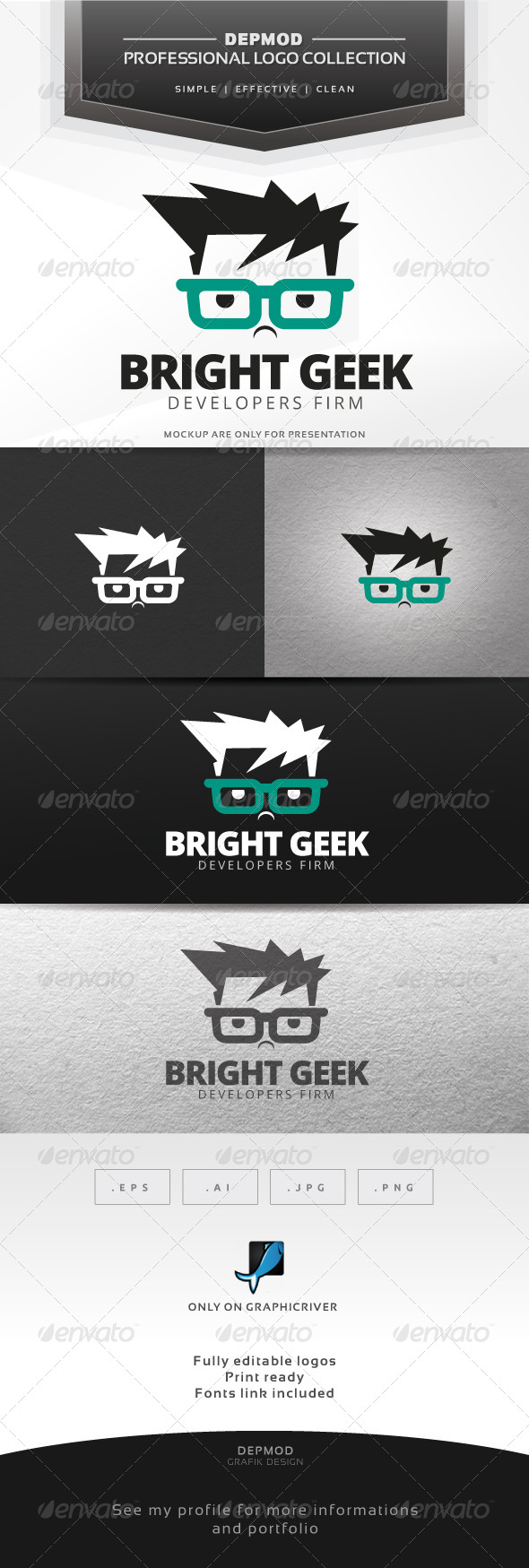 GraphicRiver Bright Geek Logo 7675441