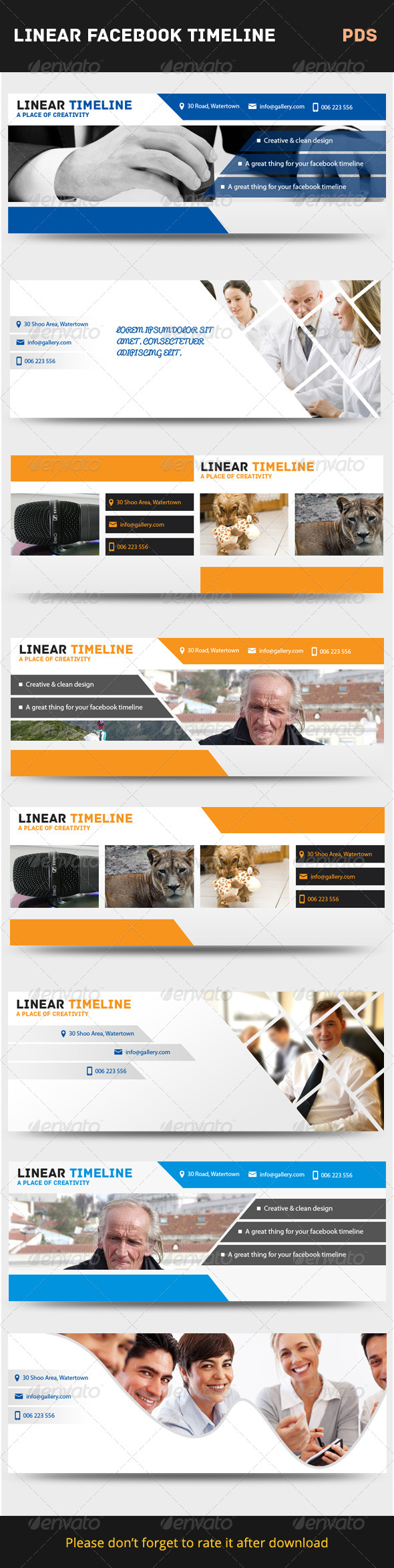 GraphicRiver Linear Facebook Timeline Cover 7675443