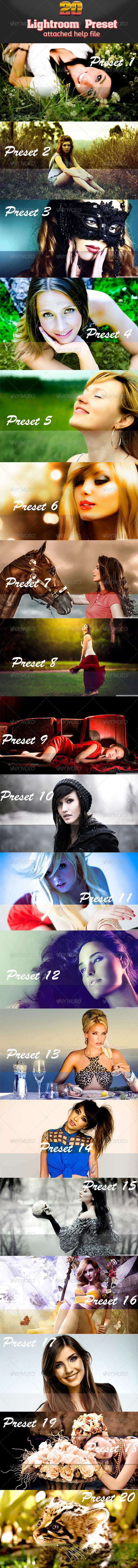 GraphicRiver 20 Premium Lightroom Presets 7643011