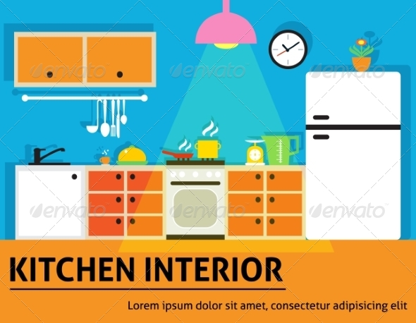 GraphicRiver Kitchen Interior Poster 7675488