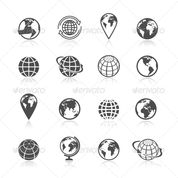 GraphicRiver Globe Earth Icons 7675518
