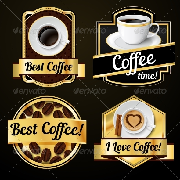 GraphicRiver Coffee Labels Set 7675522
