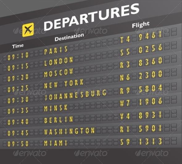 GraphicRiver Airport Board Print 7675532