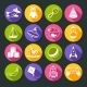 Toys Round Icons Set - GraphicRiver Item for Sale