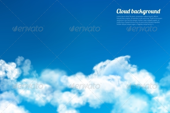 GraphicRiver Sky Clouds Background 7675539