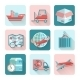 Logistic Flat Icons - GraphicRiver Item for Sale