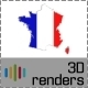 France Flag Map 3D - GraphicRiver Item for Sale