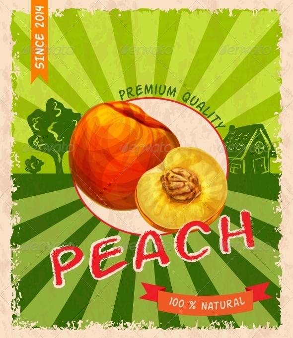 GraphicRiver Peach Retro Poster 7675576