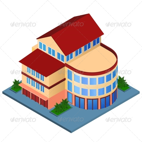 Modern Isometric Building
