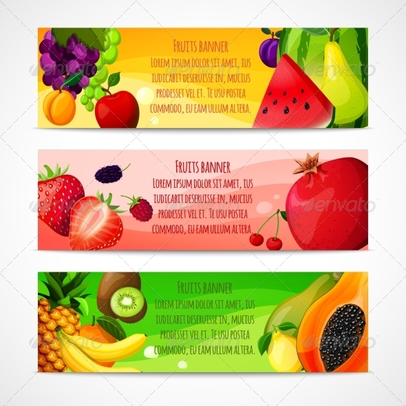 GraphicRiver Horizontal Fruits Banners 7675613