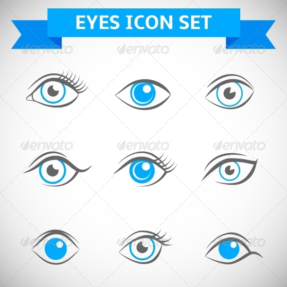 GraphicRiver Eyes Icons Set 7675616