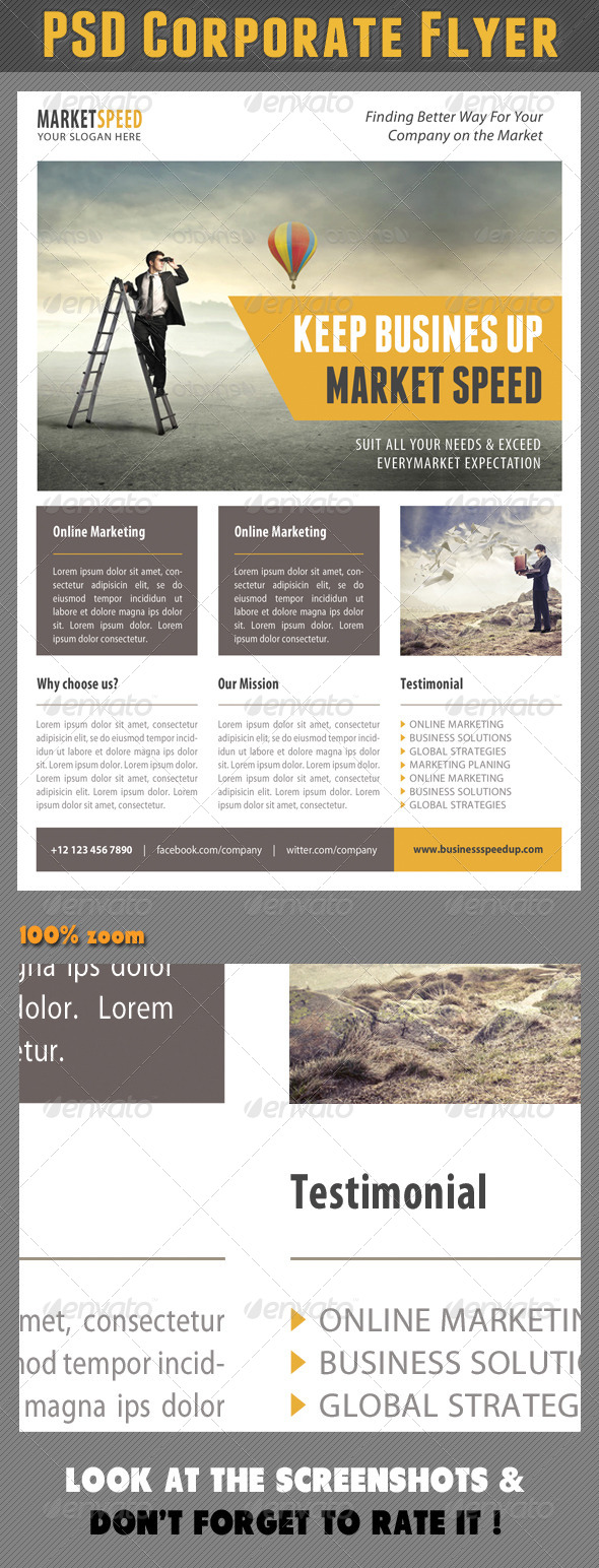 Corporate Product Flyer 88 - Corporate Flyers