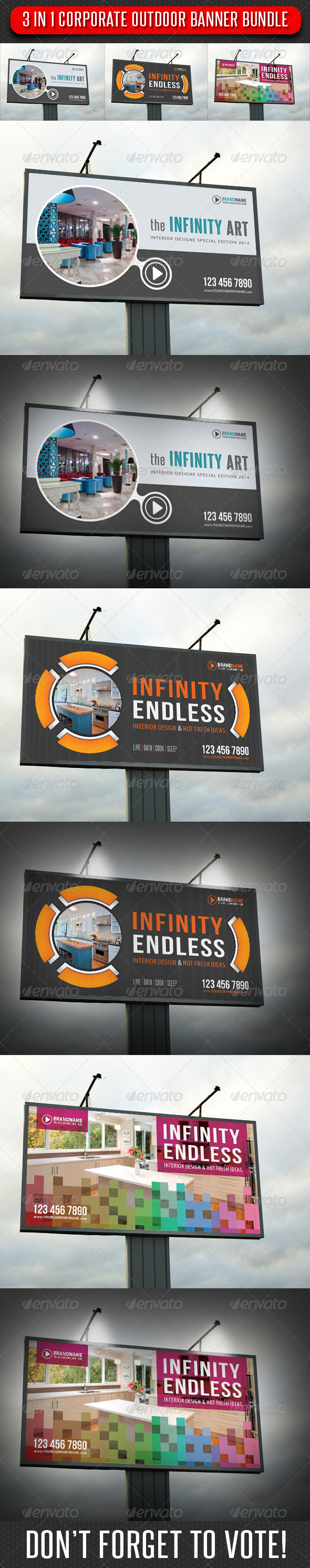 GraphicRiver 3 in 1 Corporate Outdoor Banner Bundle 09 7675818