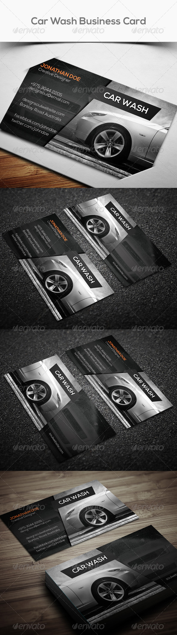 GraphicRiver Car Wash Business Card 7675829